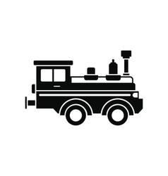 Train locomotive black simple icon vector image