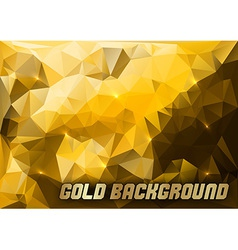 triangles gold vector image vector image