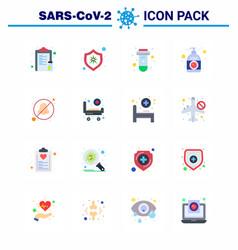 16 flat color viral virus corona icon pack vector