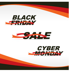 2016-12 sale friday monday vector image
