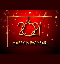 2021 happy new year background for your seasonal vector