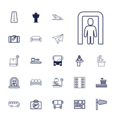 22 airport icons vector