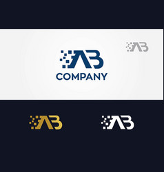 A b letters logo vector