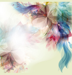 Abstract floral colorful background vector