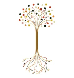 Abstract roots and branches tree set vector