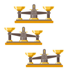 antique balance scales weigher equality equal vector image