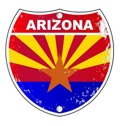 Arizona interstate sign vector