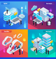 big data isometric concept vector image