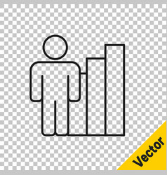 Black line productive human icon isolated on vector