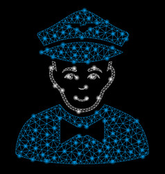 bright mesh carcass airline steward with light vector image