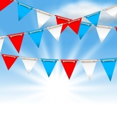 Bunting Flags for American Holidays Patriotic vector image