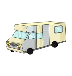 Campervan icon in cartoon style isolated on white vector image