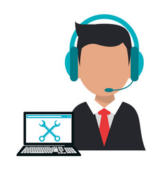 Character operator call center computer support vector