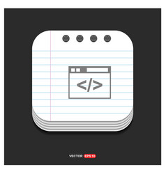 clapper board icon gray icon on notepad style vector image