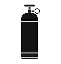 Compressed gas container icon simple vector