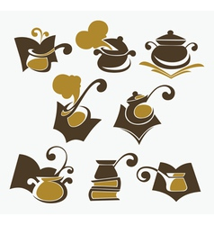 Cooking book collection vector
