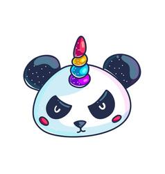 cute little pandicorn vector image