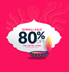 diwali sale label and price discout banner design vector image