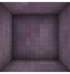 Empty futuristic room with purple walls vector