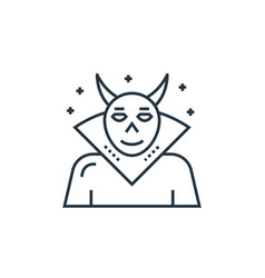 Evil icon editable stroke linear symbol vector