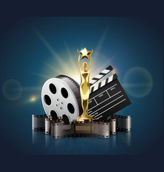 film awards realistic composition vector image