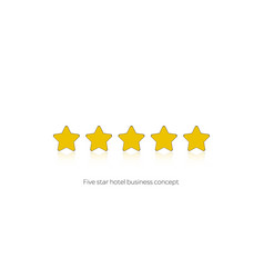 five star hotel business concept icon vector image