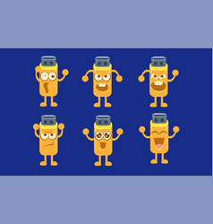 flash drive characters set funny memory cards vector image