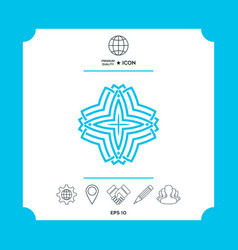 Geometric arabic pattern logo for your design vector