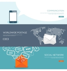 Global communication Social vector image