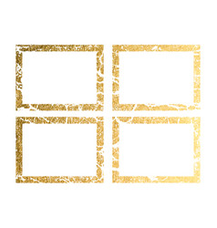 gold frame with border frame golden vector image