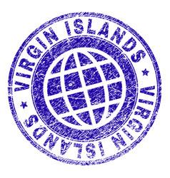 Grunge textured virgin islands stamp seal vector