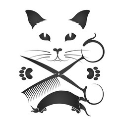 hairdresser for cats and other animals vector image
