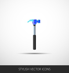 hammer in a flat style with shadow vector image