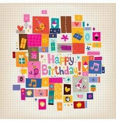Happy Birthday card 15 vector
