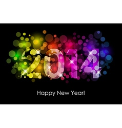 Happy New Year - 2014 background vector image