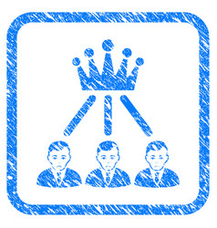 Hierarchy men framed stamp vector