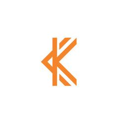 Initial k logo template vector