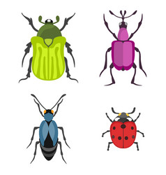 insect icon flat isolated vector image