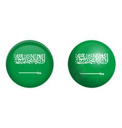 kingdom saudi arabia ksa flag under 3d dome vector image