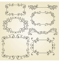 lacy vintage floral design elements vector image vector image