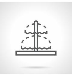 Line fountain sign black icon vector image