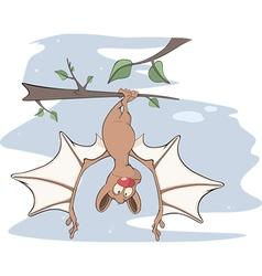 Little cheerful bat Cartoon vector image