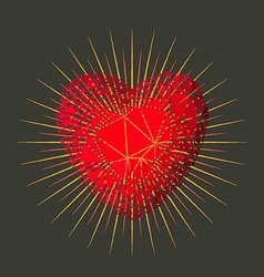 Love heart star vector