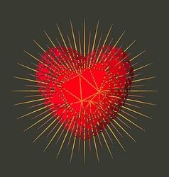Love heart star vector