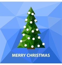 Low poly christmas tree vector image