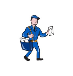 Mailman Postman Delivery Worker Isolated Cartoon vector image