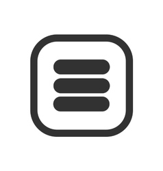Menu icon for user interface vector