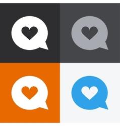 modern colorful like icons set vector image