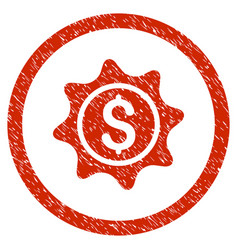 Money sticker rounded grainy icon vector