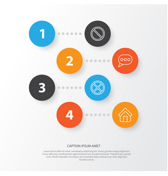 Network icons set collection of exit estate vector